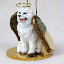 Samoyed Angel Ornament