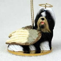 Shih Tzu Dog Angel Ornament - click for more breed colors