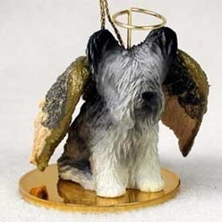 Skye Terrier Angel Ornament