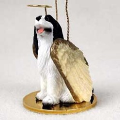 Springer Spaniel Dog Angel Ornament - click for more breed colors