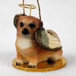 Tibetan Spaniel Angel Ornament