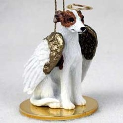 Whippet Dog Angel Ornament - click for more breed colors