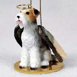 Wire Fox Terrier Angel Ornament