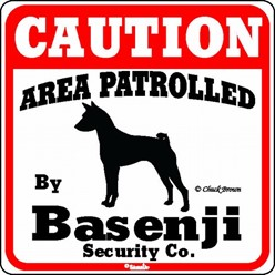 Basenji Caution Sign, the Perfect Dog Warning Sign