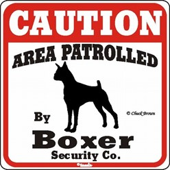 Boxer Caution Sign, the Perfect Dog Warning Sign