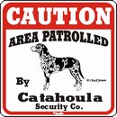 Catahoula Caution Sign, the Perfect Dog Warning Sign
