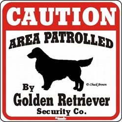 Golden Retriever Caution Sign, the Perfect Dog Warning Sign