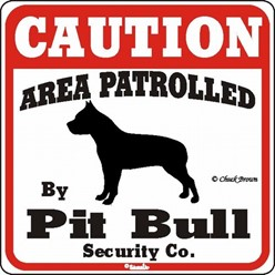 Pit Bull Caution Sign, the Perfect Dog Warning Sign