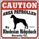 Rhodesian Ridgeback Caution Sign, the Perfect Dog Warning Sign