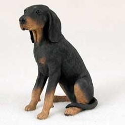 Black and Tan Coonhound Figurine
