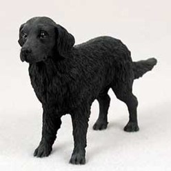 Flat Coated Retriever Figurine