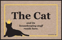 Cat and It's Housekeeping Staff Mat