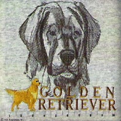 Golden Retriever Embroidered Sweatshirt, Size L