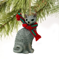 Cornish Rex Cat Christmas Ornament- click for more breed colors