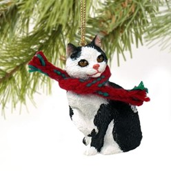 Manx Cat Christmas Ornament- click for more breed colors