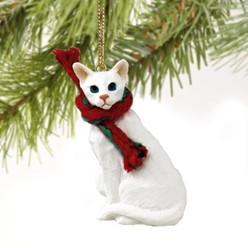 Oriental Shorthaired Cat Christmas Ornament