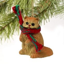 Persian Cat Christmas Ornament- click for more breed colors
