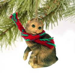 Scottish Fold Cat Christmas Ornament- click for more breed colors