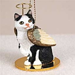 Manx Cat Angel Ornament