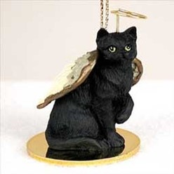 Black Cat Angel Ornament
