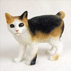 Japanese Bobtail Cat Figurine, the perfect gift for cat lovers