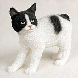 Manx Cat Figurine, the perfect gift for cat lovers