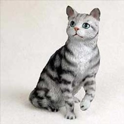 Silver Tabby Cat Figurine, the perfect gift for cat lovers