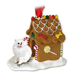 American Eskimo Gingerbread Christmas Ornament