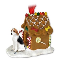 American Foxhound Gingerbread Christmas Ornament