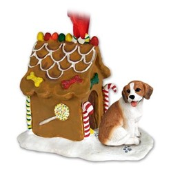 Beagle Gingerbread Christmas Ornament