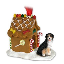 Bernese Mountain Dog Gingerbread Christmas Ornament