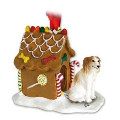 Borzoi Gingerbread Christmas Ornament