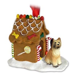 Briard Gingerbread Christmas Ornament