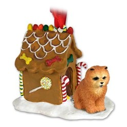 Chow Chow Gingerbread Christmas Ornament- click for more breed colors