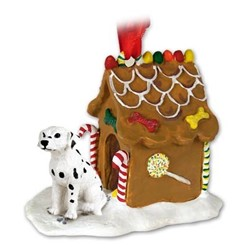 Dalmatian Gingerbread Christmas Ornament
