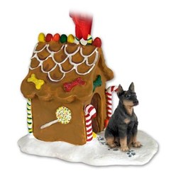 Doberman Gingerbread Christmas Ornament