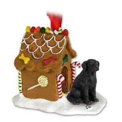 Flat Coated Retriever Gingerbread Christmas Ornament