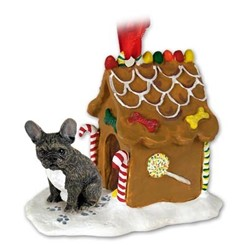 French Bulldog Gingerbread Christmas Ornament