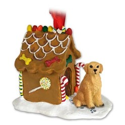 Golden Retriever Gingerbread Christmas Ornament