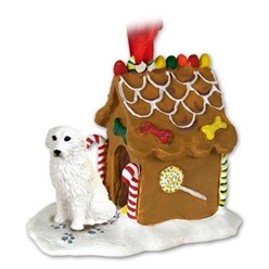 Great Pyrenees Gingerbread Christmas Ornament