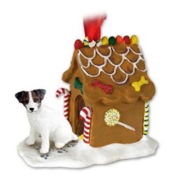 Jack Russell Gingerbread Christmas Ornament
