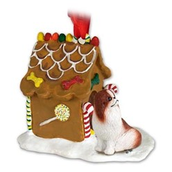 Japanese Chin Gingerbread Christmas Ornament