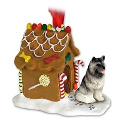 Keeshond Gingerbread Christmas Ornament
