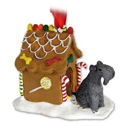 Kerry Blue Terrier Gingerbread Christmas Ornament
