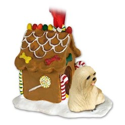 Lhasa Apso Gingerbread Christmas Ornament