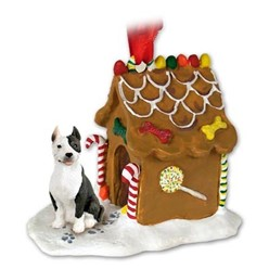Pit Bull Terrier Gingerbread Christmas Ornament