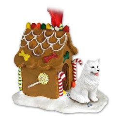 Samoyed Gingerbread Christmas Ornament