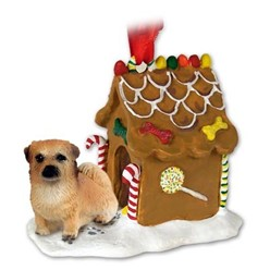 Tibetan Spaniel Gingerbread Christmas Ornament