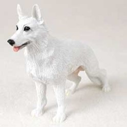 White German Shepherd Figurine