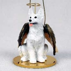 White German Shepherd Angel Ornament